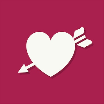 Icône de la saint-valentin en forme de coeur
