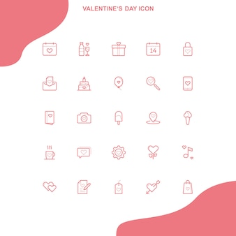 Icône saint valentin