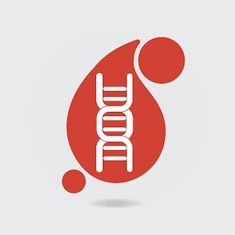 Icône de sang adn