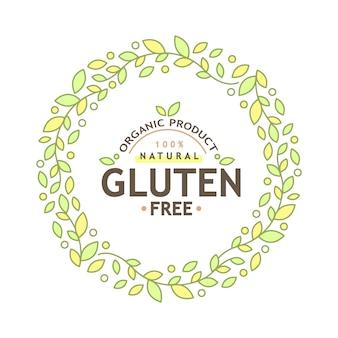 Icône sans gluten, signe sans gluten isolé sur fond blanc.