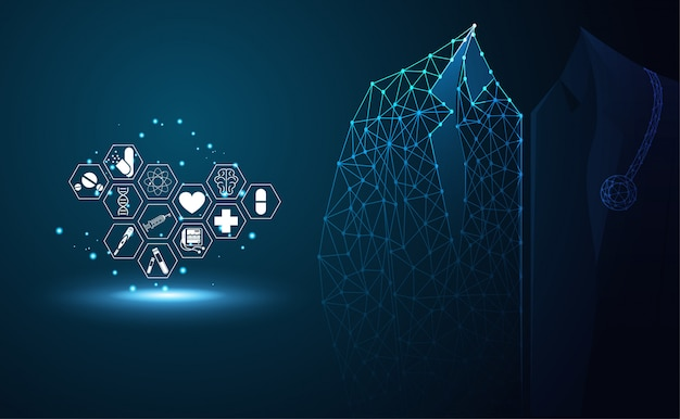 Icône de santé santé abstraite sciences médicales