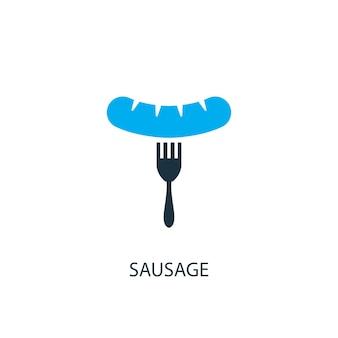 Icône de saucisse. illustration d'élément de logo. conception de symbole de saucisse de 2 collection colorée. concept de saucisse simple. peut être utilisé dans le web et le mobile.