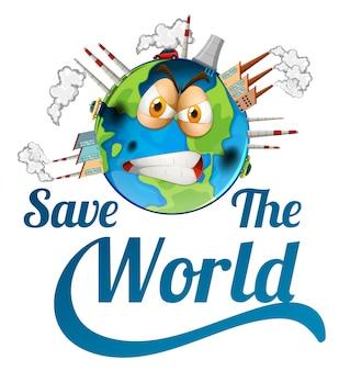 Icône sauver le monde