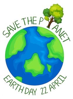Icône sauver la planète