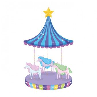 Icône de scène de carrousel de cirque