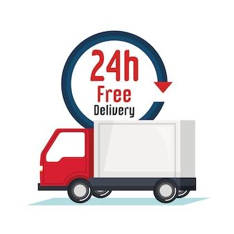 Icône de service de camion de livraison