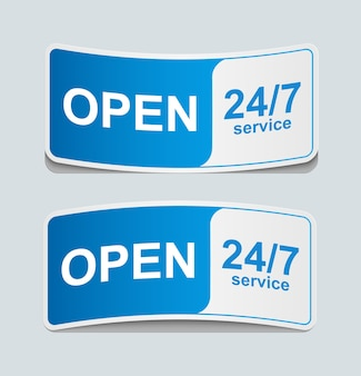 Icône de service client 24 heures sur 24, 7 jours sur 7.