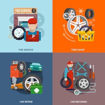 Icône de service de pneu plat