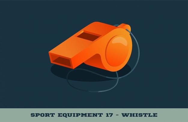 Icône de sifflet orange