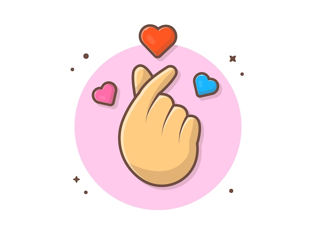 Icône de signe d'amour coréen