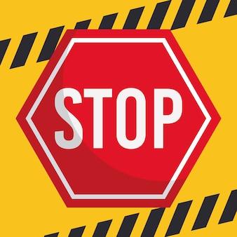 Icône de signe d'arrêt