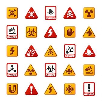 Icône de signe de danger