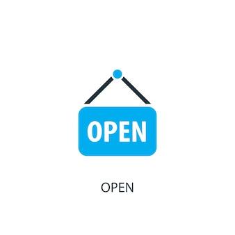 Icône de signe ouvert. illustration d'élément de logo. conception de symbole de signe ouvert de la collection 2 couleurs. concept de signe ouvert simple. peut être utilisé dans le web et le mobile.