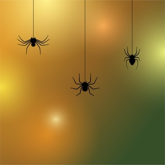 Icône de silhouette d'araignée. décoration d'halloween ou tatouage. esquisse de contour de veuve simple
