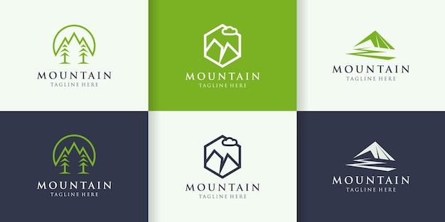 Icône simple logo montagne