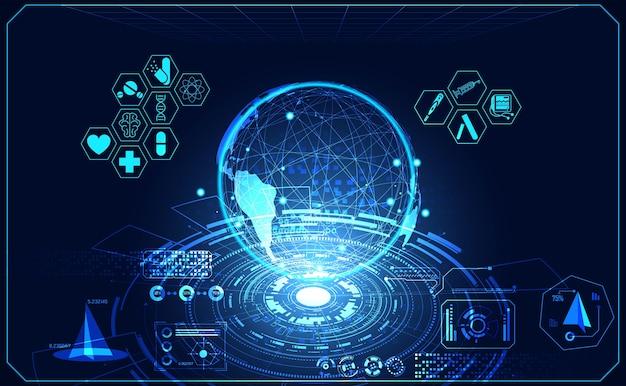 Icône de soins de santé abstrait science médicale