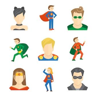 Icône de super-héros plate