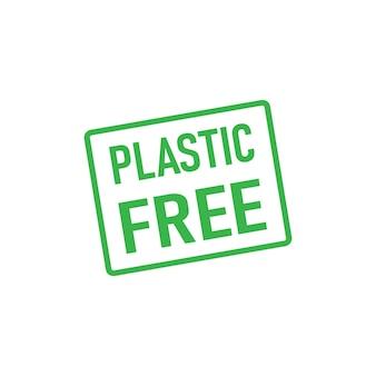Icône de symbole gratuit en plastique isolé sur fond blanc. vecteur. eps 10