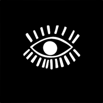 Icône symbole oeil illustration vectorielle