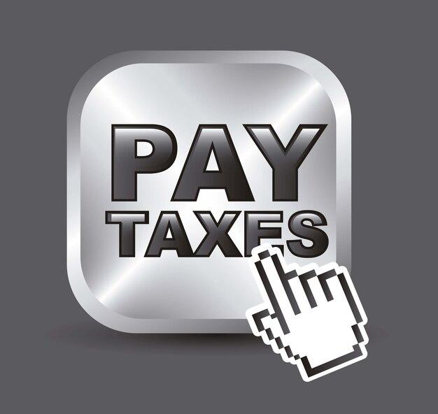 Icône de taxi sur illustration vectorielle fond gris