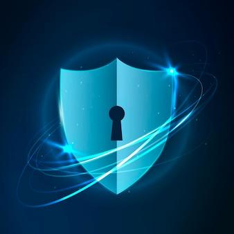 Icône de technologie de sécurité informatique