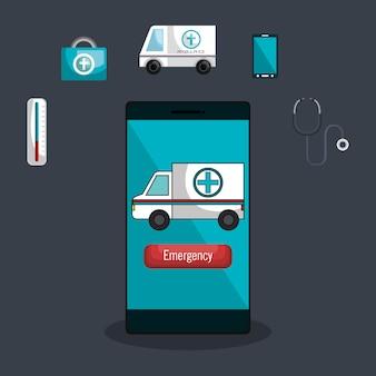 Icône de technologie de soins de santé numérique