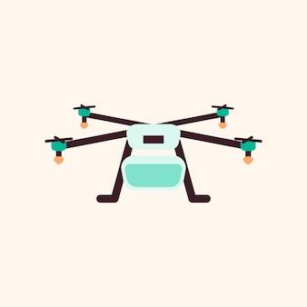 Icône de technologie de vecteur de drone de dessin animé