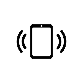 Icône de téléphone appelant en noir. vecteur eps 10. isolé sur fond blanc.