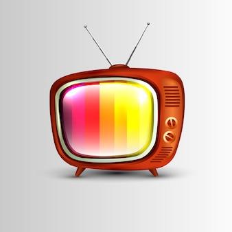 Icône de la télévision rétro