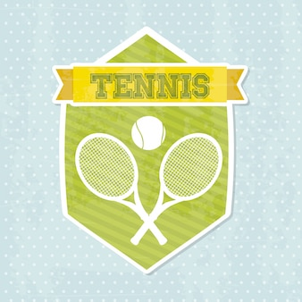 Icône de tennis au cours de l'illustration vectorielle fond bleu