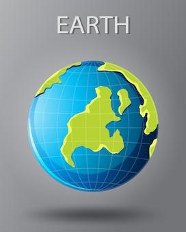 Une icône de terre isoaltée