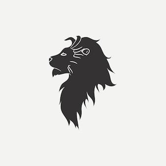 Icône de tête de lion. modèle de logo. illustration vectorielle.