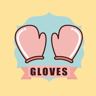 Icône de timbre de gants de cuisine