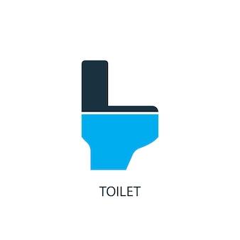 Icône de toilette. illustration d'élément de logo. conception de symbole de toilette de la collection 2 couleurs. concept de toilette simple. peut être utilisé dans le web et le mobile.