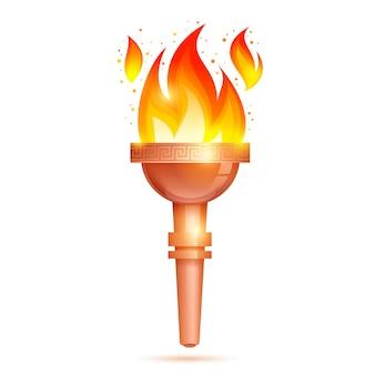 Icône de la torche isolée