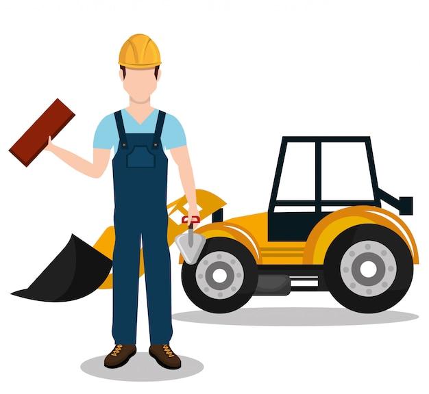 Icône de travailleur constructeur constructeur