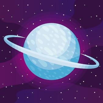 Icône de l'univers de l'espace
