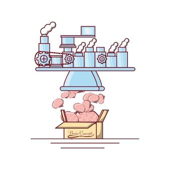 Icône de l'usine de cerveaux