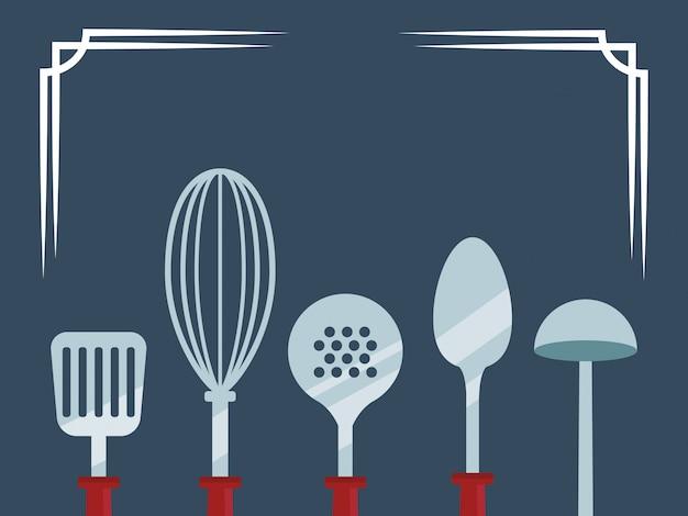 Icône d'ustensiles de cuisine