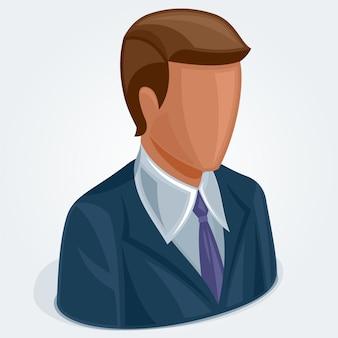 Icône d'utilisateur isométrique, avatar, symbole social.