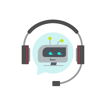 Icône de vecteur assistant chatbot ou bot support