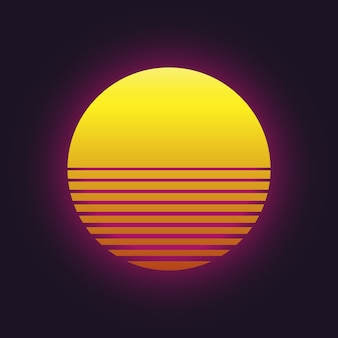Icône de vecteur de coucher de soleil