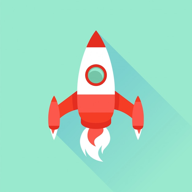 Icône de vecteur dans le style plat - démarrage et lancement