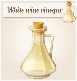 Icône de vecteur détaillé de vinaigre de vin blanc