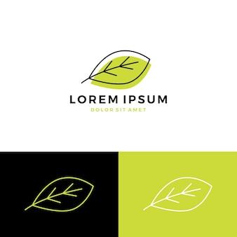 Icône de vecteur de feuille logo icône de vecteur de ligne
