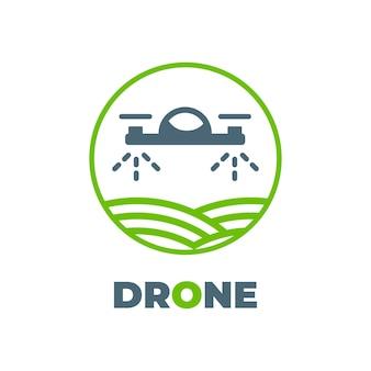 Icône de vecteur de feuille de nanocopter. le style est un logo de symbole plat, une couleur verte écologique, des angles arrondis, un fond blanc et vert.