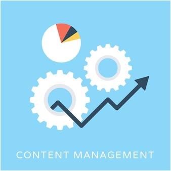 Icône de vecteur de gestion de contenu plat
