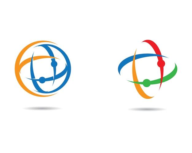 Icône de vecteur global