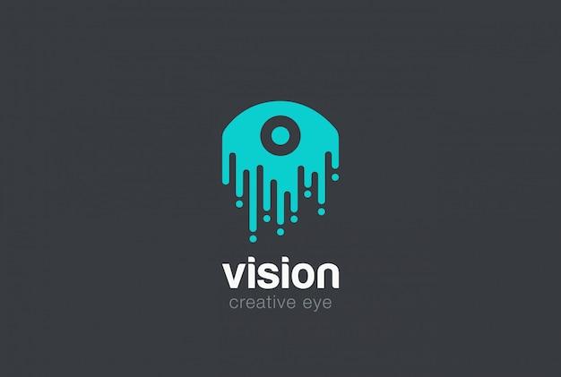 Icône de vecteur de goutte oeil logo