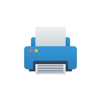 Icône de vecteur d'imprimante